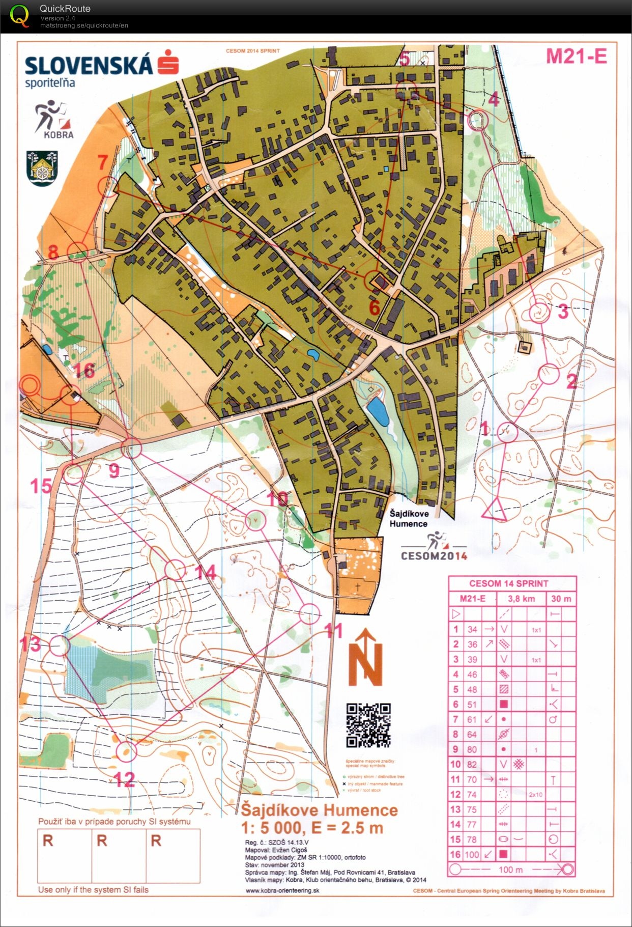 Central European Spring Orienteering Meeting / Sprint (05/04/2014)