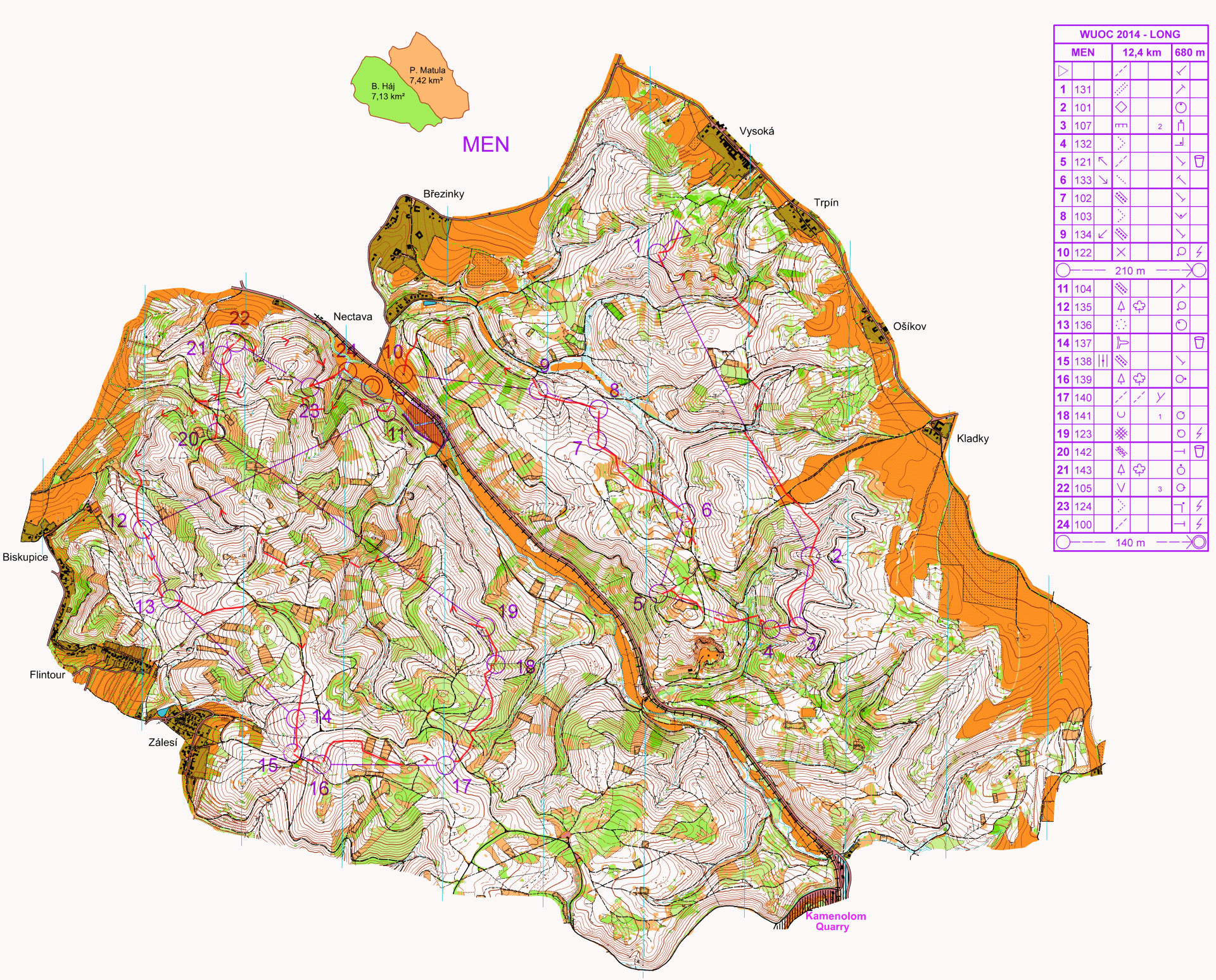 World University Orienteering Championships Long Distance (13/08/2014)