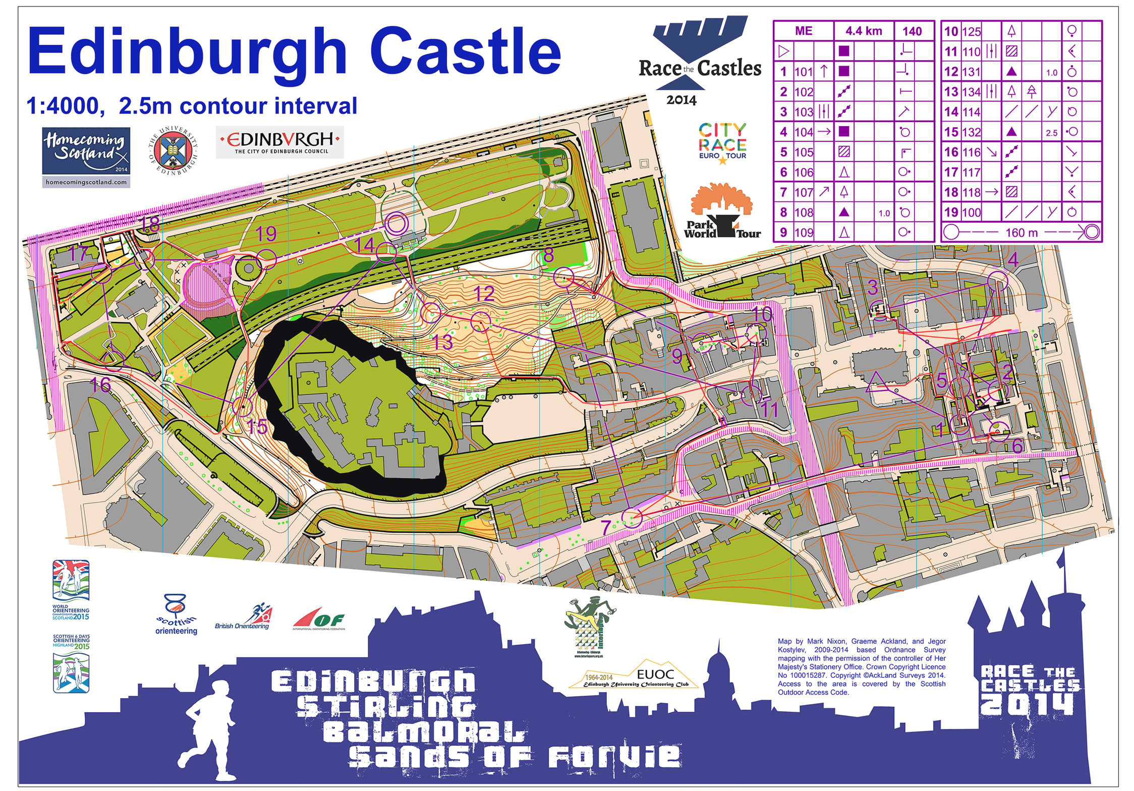 Orienteering Map Archive Race the Castles Edinburgh 11102014