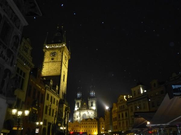 Schneefall in Prag