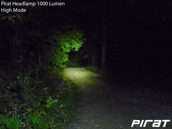 Pirat Headlamp 1000 Lumen High Mode