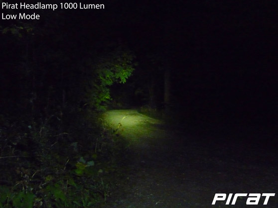 Pirat Headlamp 1000 Lumen Low Mode