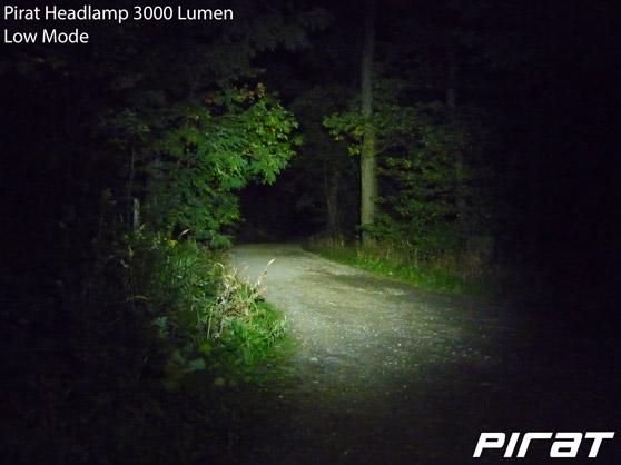 Pirat Headlamp 3000 Lumen Low Mode